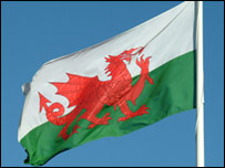 Welsh flag - pic: freefoto.com