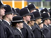 Photo of police recruits