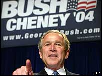 George W Bush at a campaign event