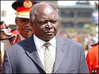 Kenyan President Mwai Kibaki