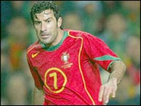 Portugal's inspirational captain Luis Figo
