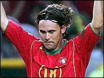 Portugal goalscorer Maniche