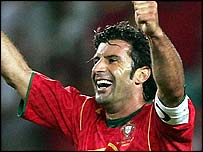 Portugal captain Luis Figo