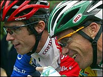 David Millar and Stuart O'Grady during the 2003 Tour de France
