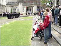 Belfast cenotaph ceremony