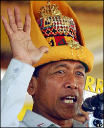 General Wiranto campaigning in Aceh