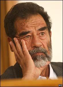 صدام حسين في المحكمة الخميس