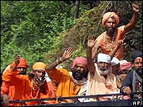 Hindus on the pilgrimage to Amarnath