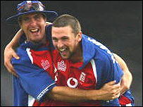 Michael Vaughan and Steve Harmison