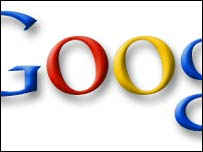 Close-up of Google logo, Google