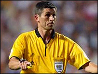 Euro 2004 final referee Markus Merk