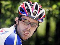 David Millar pictured training during June