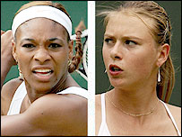 Wimbledon finalists Serena Williams (left) and Maria Sharapova