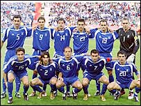 The Greece team which shocked the Czech Republic to reach the Euro 2004 final