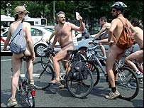 Naked cyclists