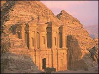 The Great Palace at Petra, Jordan.