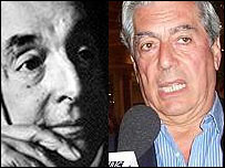 Pablo Neruda y Mario Vargas Llosa
