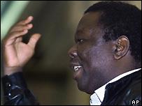 Zimbabwean opposition leader Morgan Tsvangirai