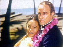 Brando and wife Tarita in Mutiny on the Bounty