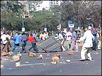 Demonstration in Nairobi, Kenya