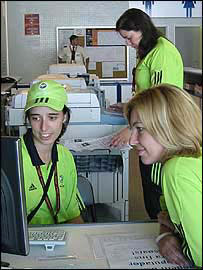 Three volunteers at Euro 2004