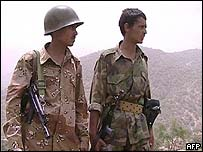 Yemeni troops on patrol in Saada province