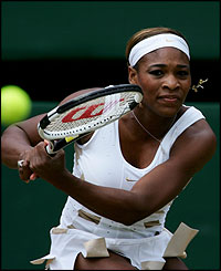 Serena Williams durante la final de Wimbledon.