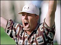Justin Leonard at the 1999 Ryder Cup