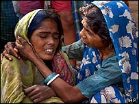 Woman mourns for relative in Chakwai village