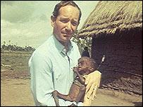 Michael Buerk in Ethiopia in 1984