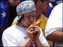 Japanese speed-eating champion Takeru Kobayashi