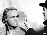 Marlon Brando with Bernardo Bertolucci