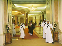 Inside Crown Prince Abdullah's palace in Jeddah