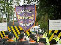 Orangemen at barrier