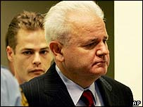 Milosevic appears in court on Monday