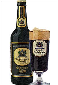 A bottle of Klosterbrauerei Neuzelle's Schwarzer Abt beer