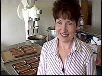 Viola Burns in her bakery