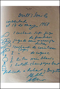 Coctel inventado por Pablo Neruda para Robert Pring-Mill y su esposa Brigitte.