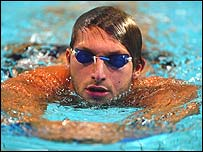 Swimmer Ian Thorpe