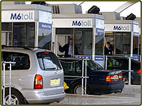 Cars at toll booths on M6