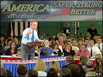 President Bush campaigning