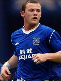 Everton striker Wayne Rooney