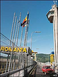 Romanian border crossing