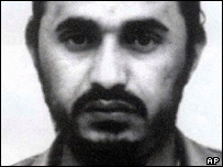 Black and white picture of Abu Musab al-Zarqawi