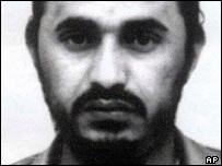 Black and white picture of Abu Musab al-Zarqawi