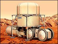 Mars base   Esa