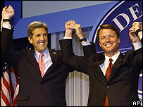 John Kerry (left) and John Edwards