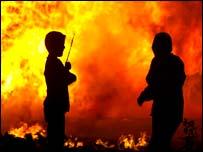 Dozens of bonfires are set to be lit across Northern Ireland