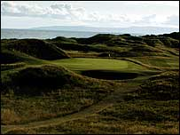 Royal Troon's signature hole, the short but scary Postage Stamp