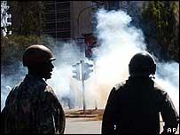 Kenyan riot police